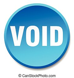 void blue round flat isolated push button