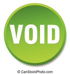 void green round flat isolated push button