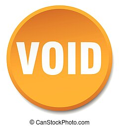 void orange round flat isolated push button