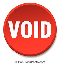 void red round flat isolated push button