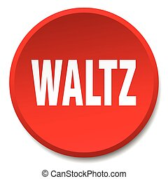 waltz red round flat isolated push button