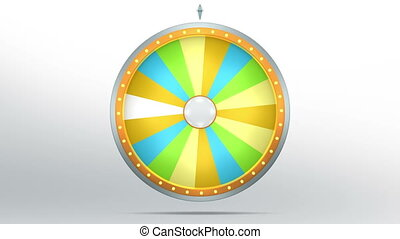 lucky spin 18 area yellow 4K - The wheel of fortune or Lucky...
