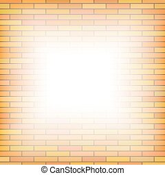 Brick Wall Background Orange Pattern of Brick Texture