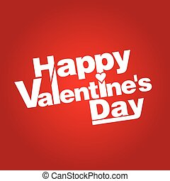 Illustration congratulation on valentine's day. Vector