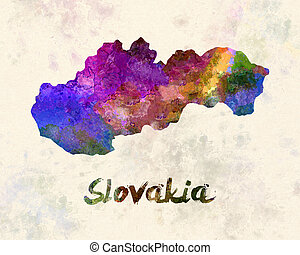 Slovakia in watercolor
