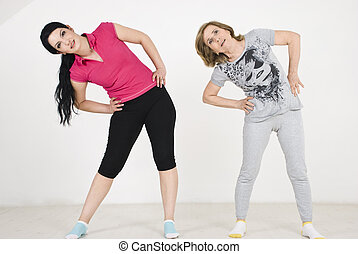 Active womnen workout