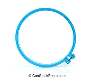 plastic hoop for stretch fabric on white background