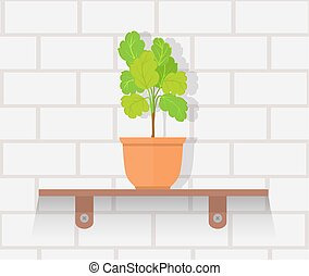 Houseplant Design Flat Concept - Houseplant design flat...