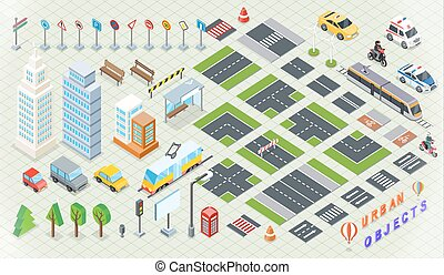 Isometric Part of the City Infrastructure - Isometric part...