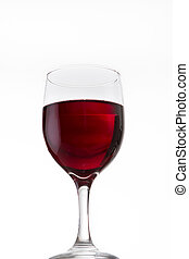 red wine - Red wine glass isolated on white background