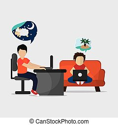 Rest and sleep design , vector illustration - Rest concept...