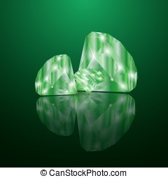Brilliant emeralds.