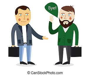 Businessman greeting partner concept Business meeting...