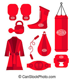 Boxing design elements Fighting and boxing equipment Boxing...