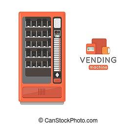 Vending machine set Sell snacks and soda drinks vending...