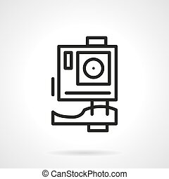 Extreme action camera simple line vector icon - Action...