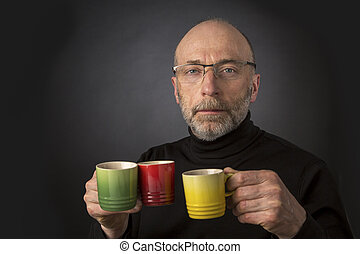 Espresso anybody Man headshot - Morning coffee anybody 60...