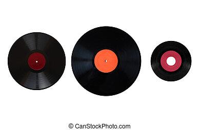 Size comparison of recording media - Size comparison of many...