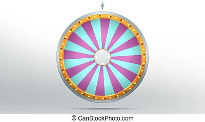 wheel fortune 24 area purple blue - The wheel of fortune or...