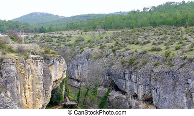 quot;View of crystal terrace at incekaya canyon, safranbolu,...