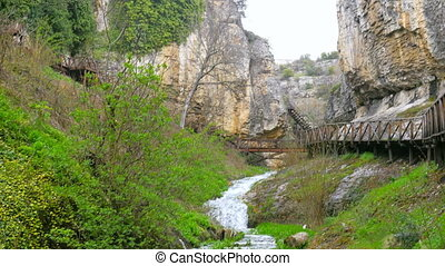 """View of river at incekaya canyon, safranbolu, turkey,"""