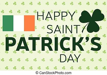 Happy St. Patrick's Day greeting card. Vector illustration.