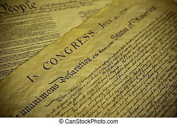 The Declaration of Independence and Constitution of the USA...