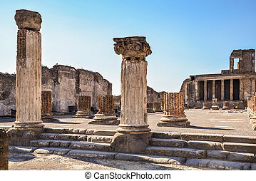 Lost city of Pompeii - Roman archeologic ruins of the lost...