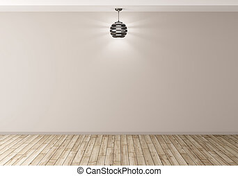 Interior background with lamp 3d rendering