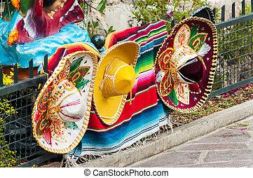 Row of Mexican Sombreros
