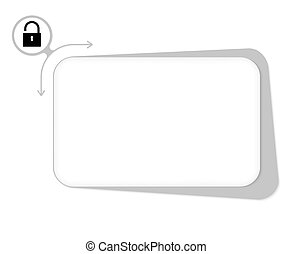 Vector box to fill your text and padlock