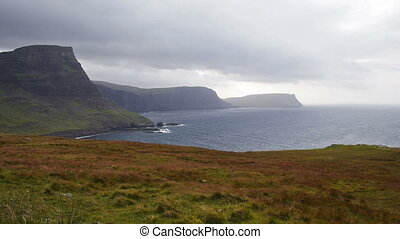 Neist point on the Isle of Skye - Stormy weather at Neist...
