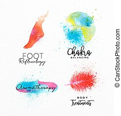 Beauty natural spa symbols foot - Symbols beauty natural SPA...