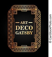 art deco element gatsby design