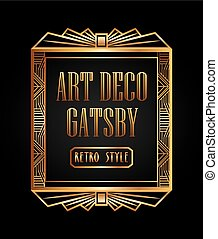 art deco element gatsby design - art deco element design,...