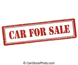 Car for sale - Rubber stamp with text car for sale inside,...