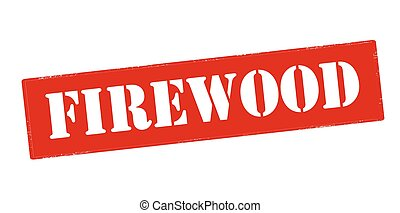 Firewood - Rubber stamp with word firewood inside, vector...