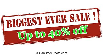 Biggest ever sale up to fourty percent off - Rubber stamp...