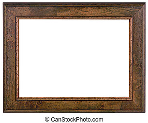 Wooden Patina frame Cutout - Old Wooden Patina Picture Frame