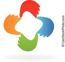 Business hands logo vector icon design