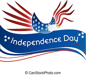 Eagle flag USA Independence Day web vector background