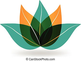 Lotus flower vector logo