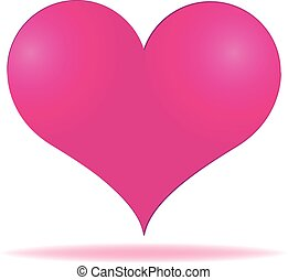 Pink heart valentines day