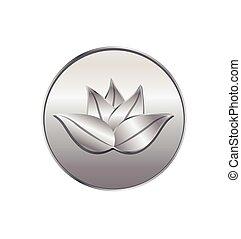 Lotus seal in silver logo