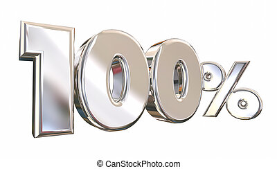 100 Percent One Hundred Full Amount Number 3d Animation