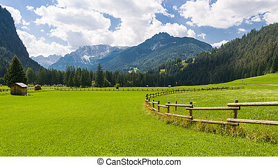 idyllic mountain landscape - View in the dolomitic landscape...