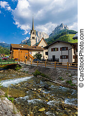 Church in Fassa Valley - Ancient church in an idillyc...