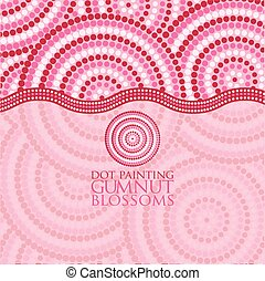 Abstract Aboriginal dot painting in vector format