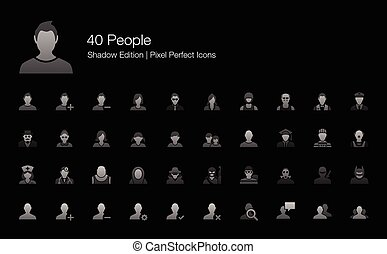 People Avatar Character Icons - Set of vector icons...