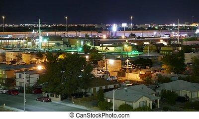 Residential houses in Las Vegas at night